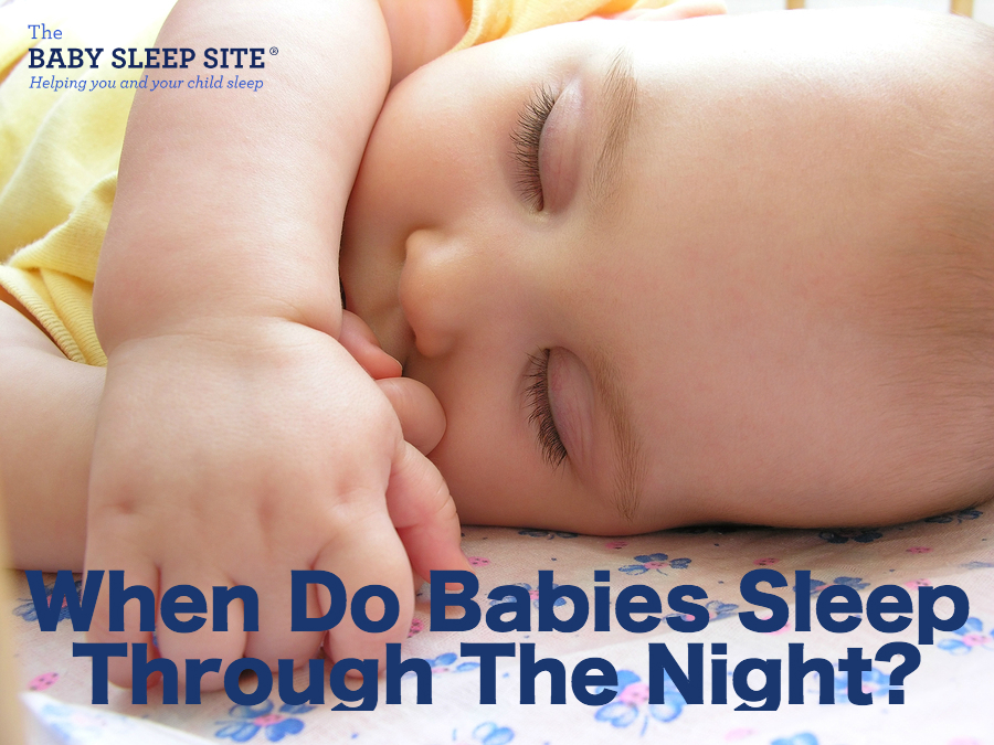 How old babies sleep through night